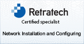 Network install Certification Badge for around