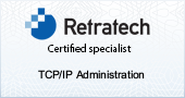 TCP/IP Certification Badge for around